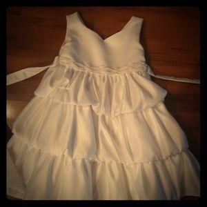 Little girls white dress